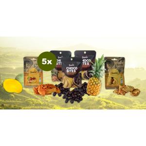 ECO a fairtrade sušené ovocie z Kolumbie: ananás, mango, banán v čokoláde
