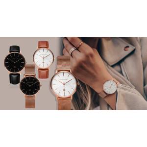 Exkluzívne náramkové hodinky Easycase s dvomi remienkami (pravá koža/kovový)