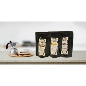 Mletá káva s lahodnými príchuťami: čokoláda, latte, pralinka a iné (10 druhov)