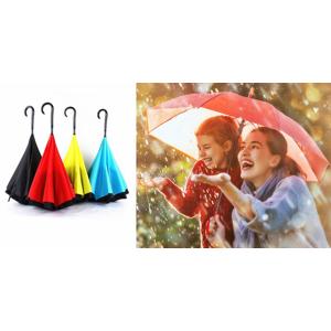 Obrátený dáždnik, ktorý vietor nezničí - Kazbrella
