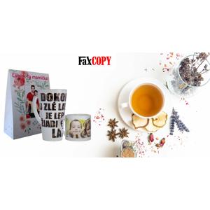 Originálne hrnčeky alebo sypaný čaj s vlastným motívom, osobný odber ZADARMO až v 40 predajniach FaxCOPY