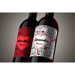 Povedzte to vínom - set valentínskych darčekových vín s vlastnou etiketou