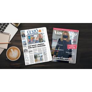Predplatné Új Szó a Vasárnap - jediný denník a najväčší týždenník v maďarčine vydávaný na Slovensku