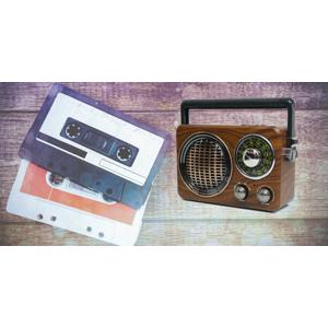 Retro rádio a bluetooth reproduktor 2v1