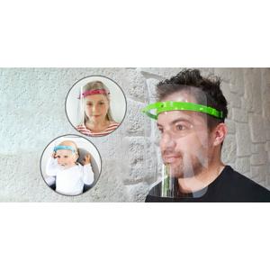 Slovenský výrobok: Ochranný štít pre dospelých a deti (2 kusy za cenu 1 ks) + respirátor FFP2 zdarma