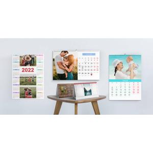 Stolové a nástenné fotokalendáre navrhnuté do 3 minút