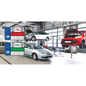 Technická a emisná kontrola osobného, nákladného vozidla alebo motocykla