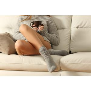 Teplučké ponožky z pravej ovčej vlny
