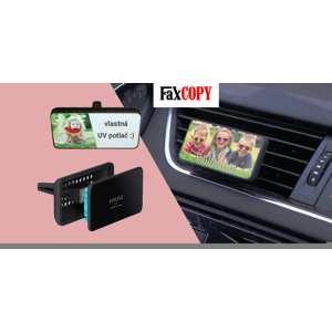 Vôňa čerstvých kvetov, sebavedomého muža alebo prvého bozku do auta s UV potlačou a osobným odberom ZADARMO až v 40 predajniach FaxCOPY