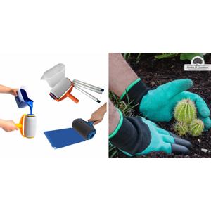 """Výbava pre domácich """"kutilov"""" - maliarsky valček PAINT RUNNER alebo záhradnícke rukavice so 4 pazúrmi"""