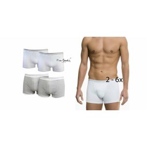 Značkové pánske boxerky Pierre Cardin v bielej alebo šedej farbe (2, 4 alebo 6 ks)