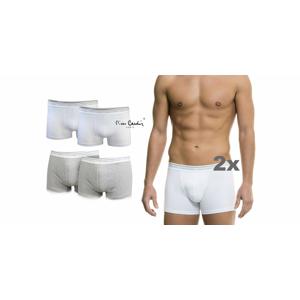 Značkové pánske boxerky Pierre Cardin v bielej alebo šedej farbe (2 ks v balení)